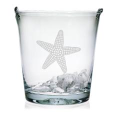 Starfish Etched Ice Bucket