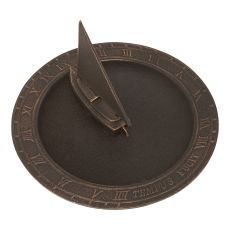 Sailboat Sundial Birdbath, Oil Rub Bronze