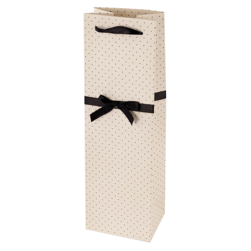 Elegant White and Black Wine Bag