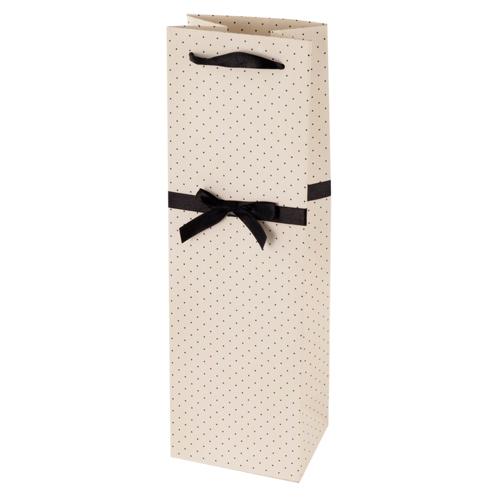 Elegant White and Black Wine Bag