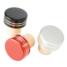 Metallic Bottle Stoppers in Assorted Colors