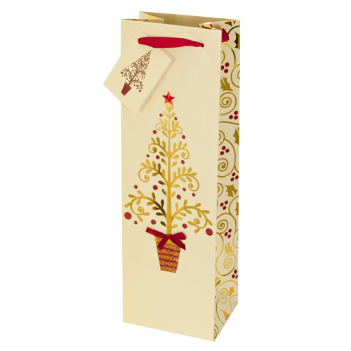 Golden Tree Wine Bag