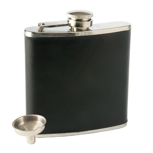 Monte Carlo: 6 oz Faux Leather Flask