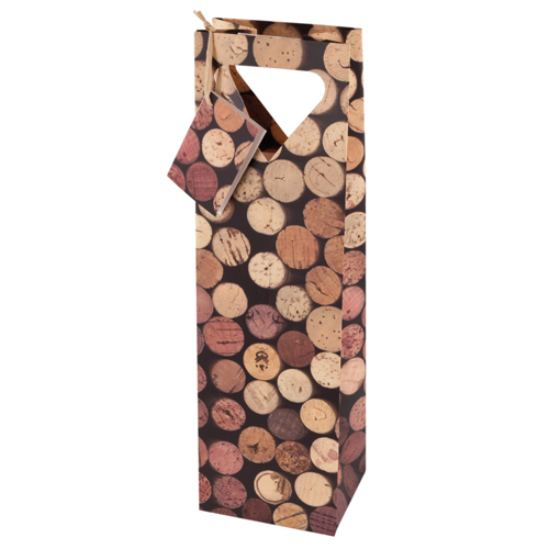 1-Bottle Corks Wine Bag