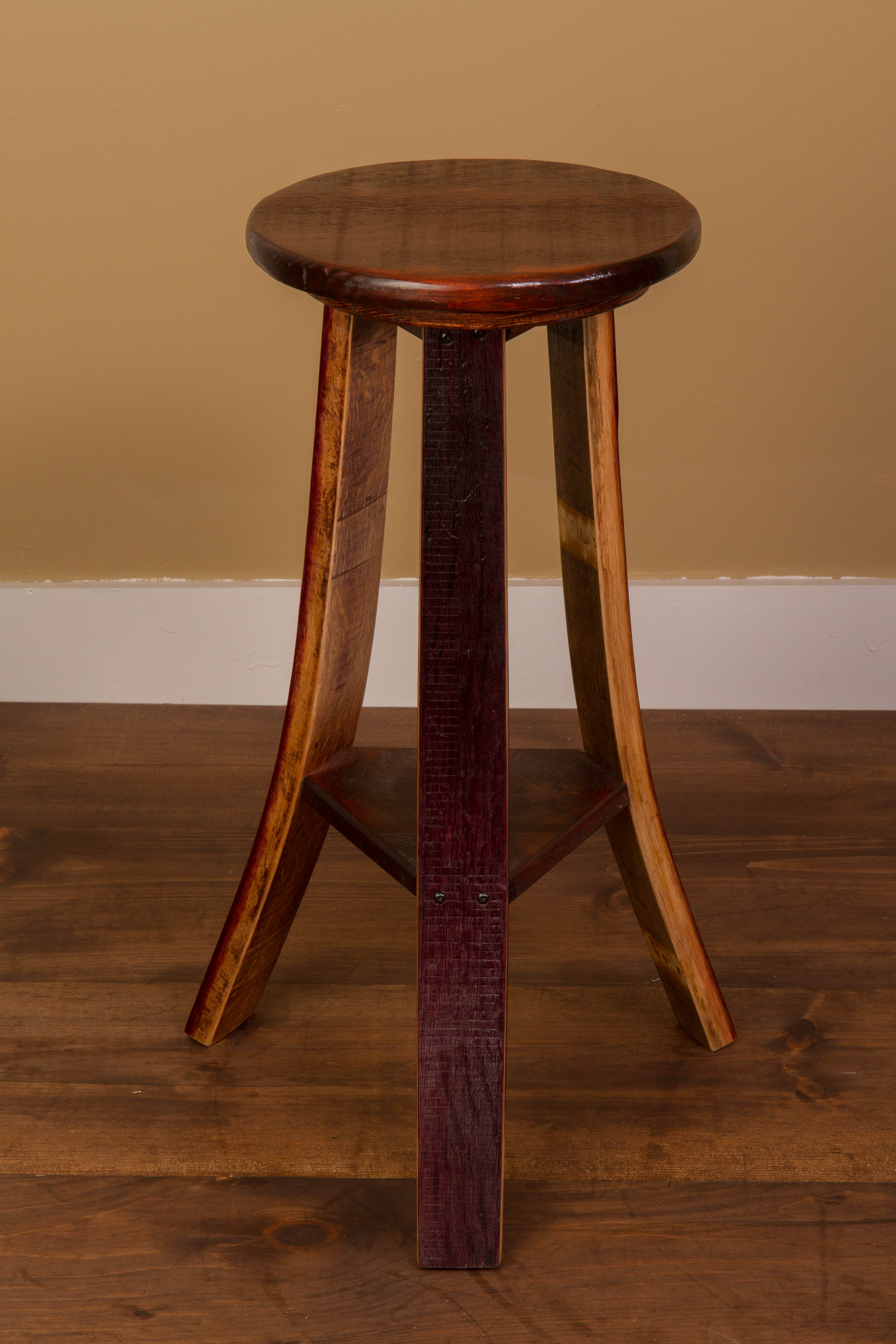 Wine Barrel Stave Tasting Stools (set of 2)