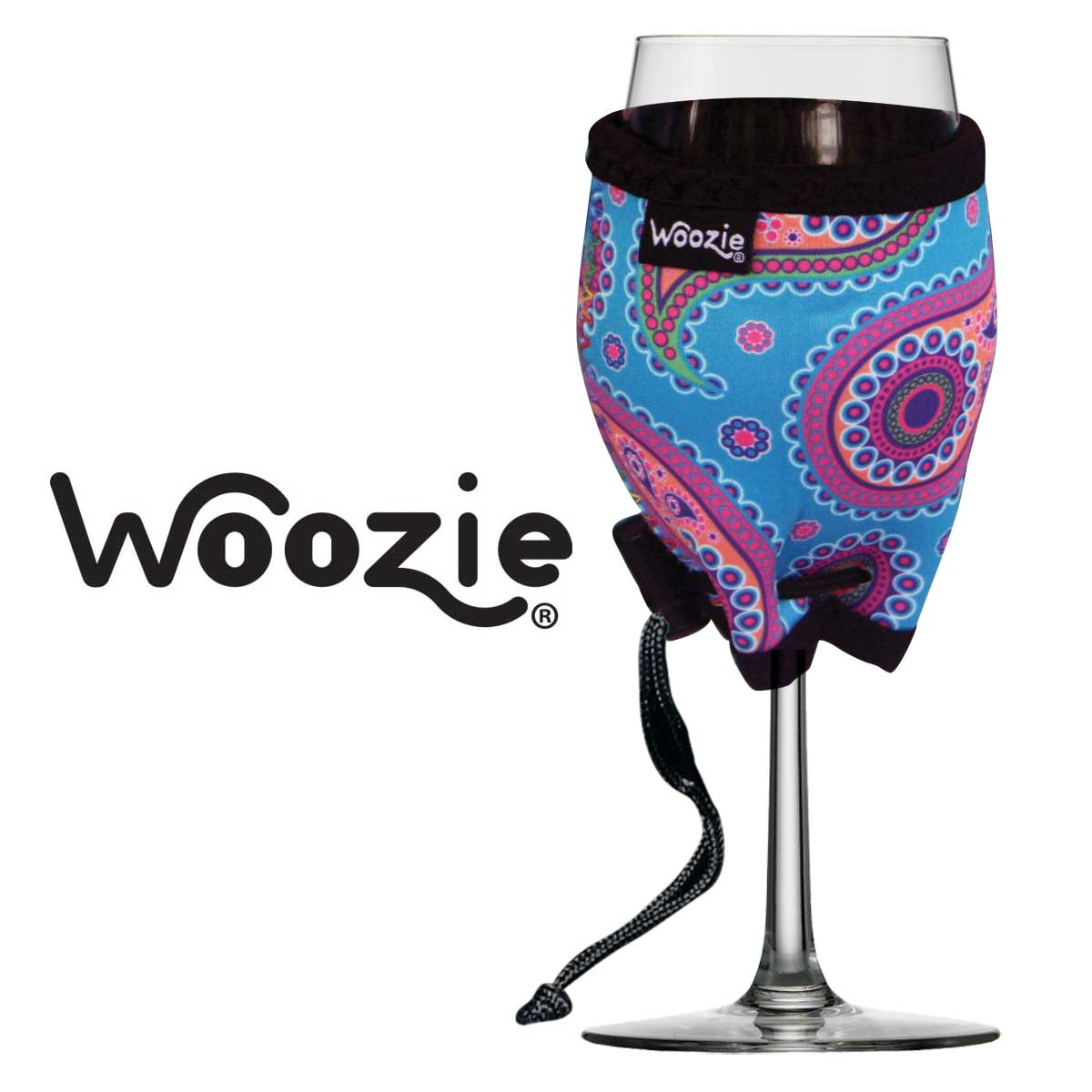 Perky Paisley Blue Wine Glass Woozie