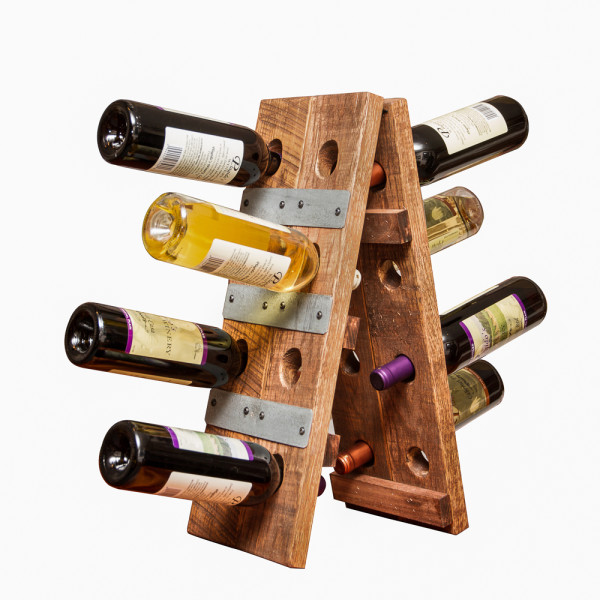Small Folding Riddling Wine Rack