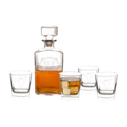 Full of Boos 5 Piece Decanter Set