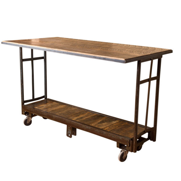 Rolling Vintage Cart Pub Table
