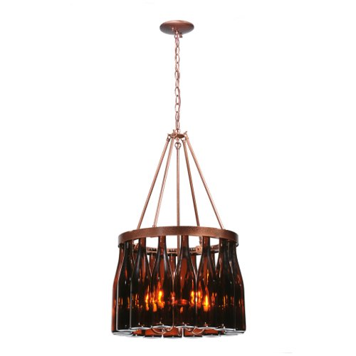 Tuscan Vineyard Estate 16 Wine Bottle Chandelier