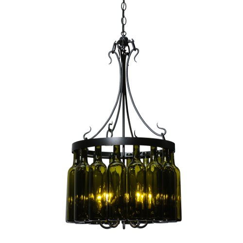 Tuscan Vineyard Villa 16 Wine Bottle Chandelier