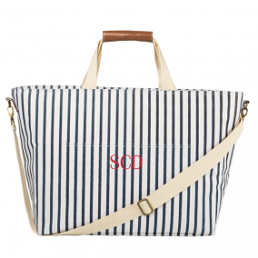 Personalized Striped Large Cooler Tote