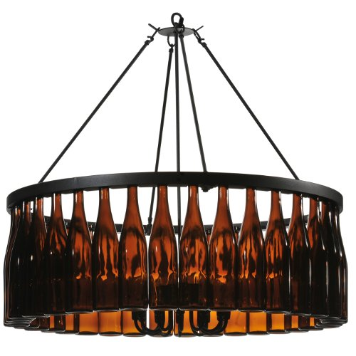Tuscan Vineyard Estate 36 Wine Bottle Chandelier
