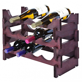 VinRack 12 Wine Bottle Display Kit, Stained