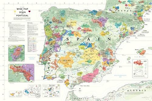 Delong's Iberian Peninsula Wine Map