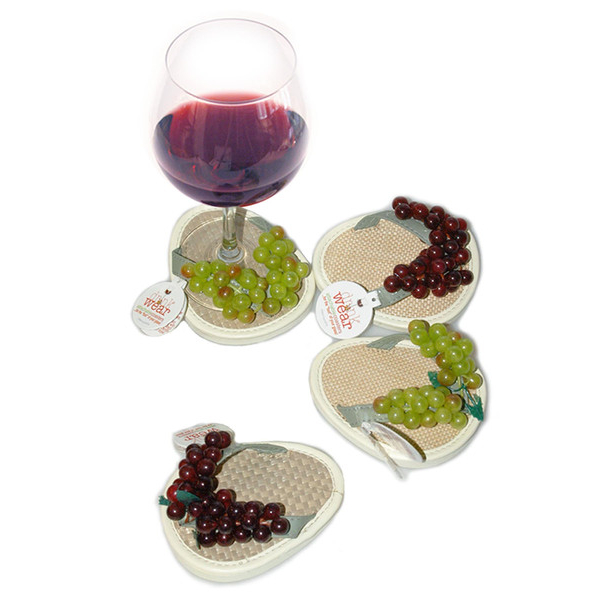 Crush Flip Flop Stemware Coasters