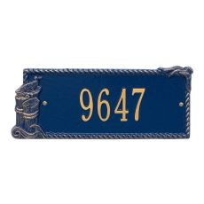 Personalized Seagull Rectangle Plaque, Blue / Gold