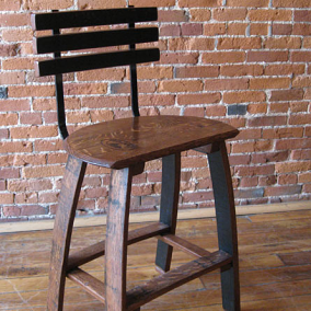Barrel Head Stave Stool