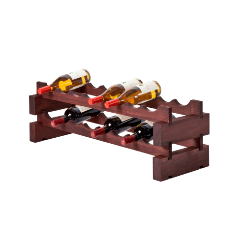 16 Bottle Modular Wine Rack  - Stained