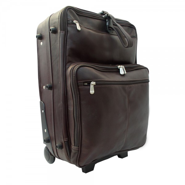 Piel Leather Wheeled Traveler