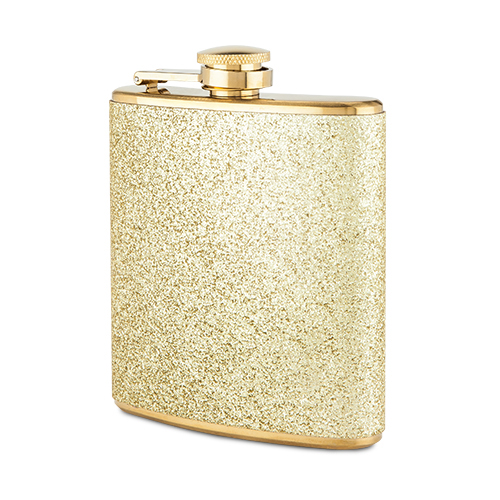Sparkletini Stainless Steel Gold Flask by Blush
