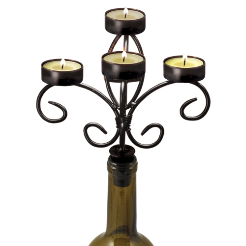 Boulevard: Wine Bottle Candelabra