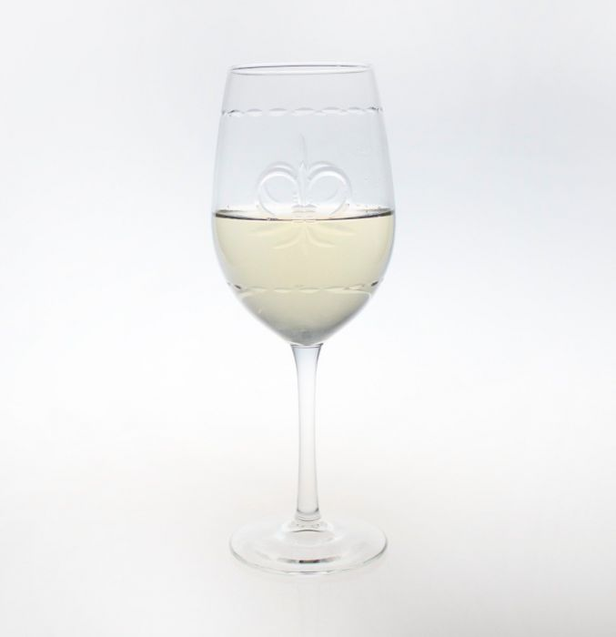 Fleur De Lis White Wine Glasses (set of 4)