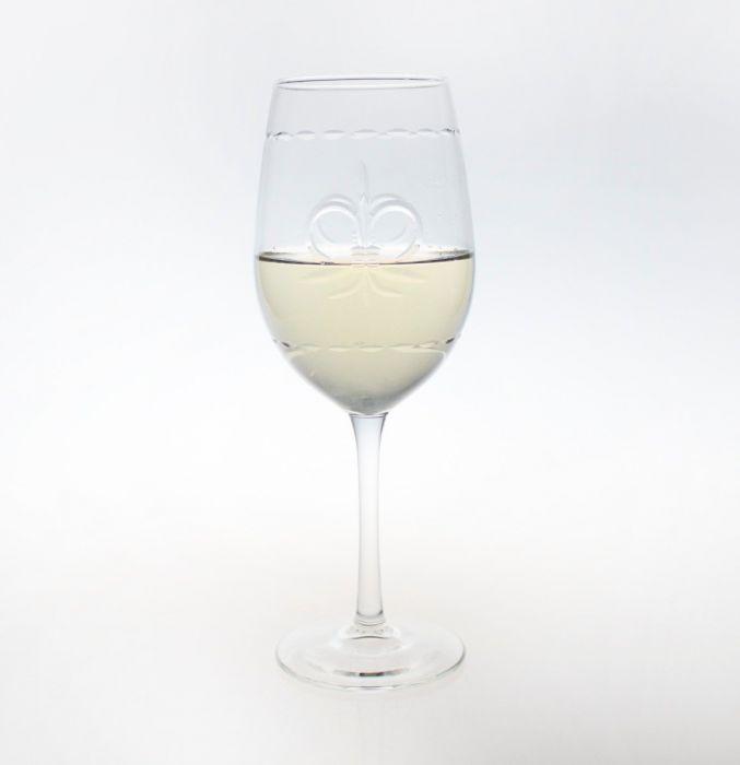Fleur De Lis White Wine Glasses (set of 4)