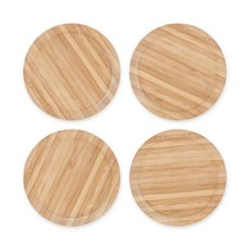 Topper Bamboo Appetizer Glass Toppers (Set of 4)