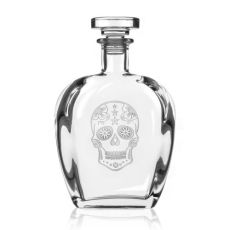 Sugar Skull Decanter 23 oz
