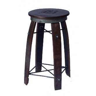 28 Inch Daisy Swivel Stave Stool