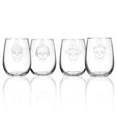 Numbskulls Stemless Glasses 17 oz Set of 4