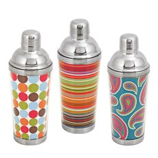 Spirit 16 Oz Patterned Cocktail Shakers