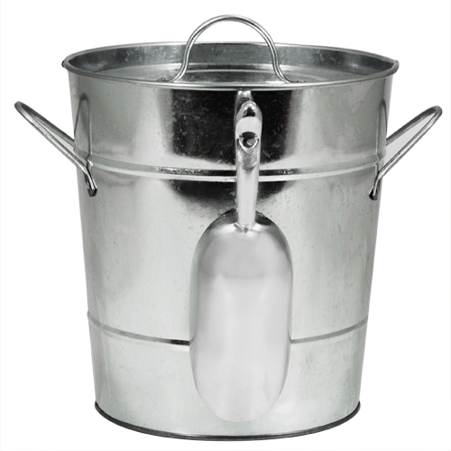 Country Home: Galvanized Ice Bucket
