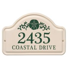 Personalized Sand Dollar Arch Plaque, Bristol Plaque With Green Etching