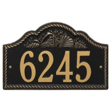 Personalized Rope Shell Arch Plaque Wall, Black / Gold