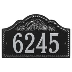 Personalized Rope Shell Arch Plaque Wall, Black / Silver