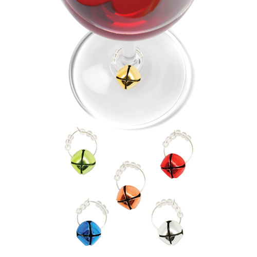 Jingle Holiday Wine Charms (Set of 6 )