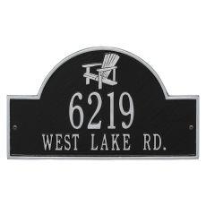 Personalized Adirondack Arch Plaque, Black / Silver