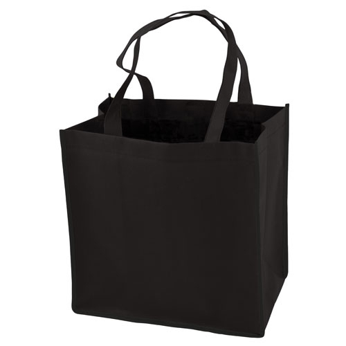 Black Reusable Grocery Tote