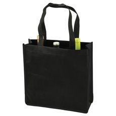 3 Bottle Non Woven Tote In Black