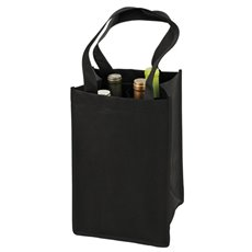 4 Bottle Non Woven Tote In Black