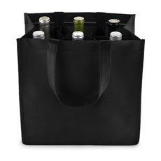 6 Bottle Non Woven Tote In Black
