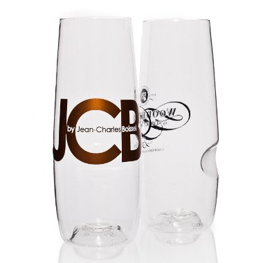 Govino Stemless Champagne Flutes with Logo (set of 72)