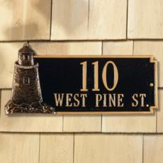 Lighthouse Address Plaque