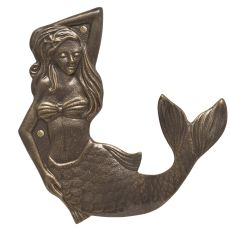 Mermaid Towel Hook (Right), French Bronze