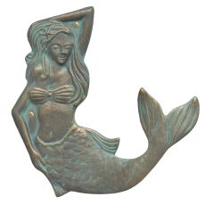 Mermaid Towel Hook (Right), Bronze Verdigris