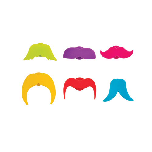 Whiskers Silicone Glass Markers (Set of 6)