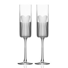 Wedding Cheers Series 1 (dress/dress) Champagne Flute 5.75 oz Set of 2