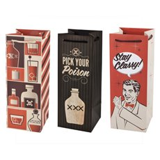 Assorted Retro Drinking Icon Wine Bags